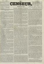 Le Censeur : journal de Lyon, politique, industriel et littéraire, N°695, pp. 1