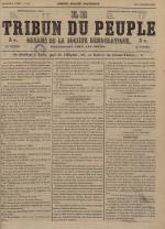 Le Tribun du peuple : organe de la Société démocratique - se distribue à Lyon, N°10