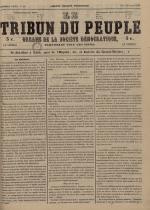 Le Tribun du peuple : organe de la Société démocratique - se distribue à Lyon, N°11