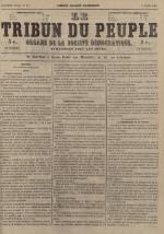 Le Tribun du peuple : organe de la Société démocratique - se distribue à Lyon, N°19
