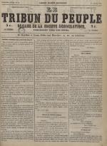 Le Tribun du peuple : organe de la Société démocratique - se distribue à Lyon, N°27