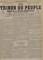 Le Tribun du peuple : organe de la Société démocratique - se distribue à Lyon, N°28