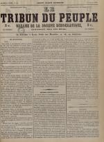 Le Tribun du peuple : organe de la Société démocratique - se distribue à Lyon, N°29