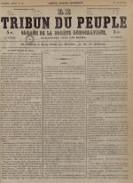 Le Tribun du peuple : organe de la Société démocratique - se distribue à Lyon, N°30