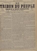 Le Tribun du peuple : organe de la Société démocratique - se distribue à Lyon, N°33