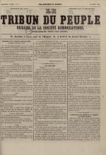 Le Tribun du peuple : organe de la Société démocratique - se distribue à Lyon, N°6