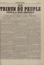 Le Tribun du peuple : organe de la Société démocratique - se distribue à Lyon, N°5
