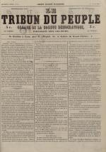 Le Tribun du peuple : organe de la Société démocratique - se distribue à Lyon, N°9