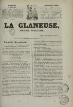 La Glaneuse : journal populaire, N°315