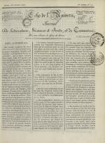 Echo de l'univers : journal de littérature, sciences et arts, et de commerce, N°11