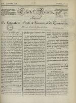 Echo de l'univers : journal de littérature, sciences et arts, et de commerce, N°110
