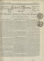 Echo de l'univers : journal de littérature, sciences et arts, et de commerce, N°18