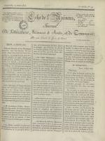 Echo de l'univers : journal de littérature, sciences et arts, et de commerce, N°19