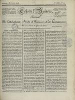 Echo de l'univers : journal de littérature, sciences et arts, et de commerce, N°74