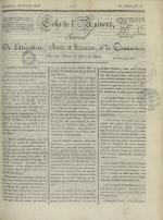 Echo de l'univers : journal de littérature, sciences et arts, et de commerce, N°75