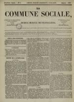 La Commune sociale : journal mensuel des travailleurs, N°2