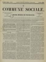 La Commune sociale : journal mensuel des travailleurs, N°3