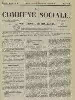 La Commune sociale : journal mensuel des travailleurs, N°4