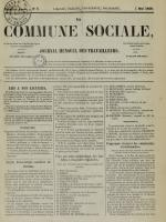 La Commune sociale : journal mensuel des travailleurs, N°5