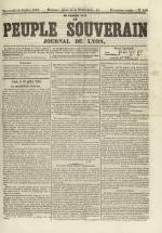 Le Peuple souverain : journal des intérêts démocratiques et du progrès social, N°103