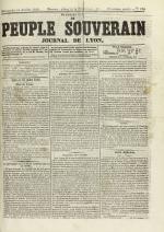 Le Peuple souverain : journal des intérêts démocratiques et du progrès social, N°100