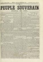 Le Peuple souverain : journal des intérêts démocratiques et du progrès social, N°101