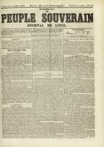 Le Peuple souverain : journal des intérêts démocratiques et du progrès social, N°105