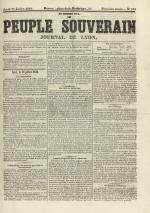 Le Peuple souverain : journal des intérêts démocratiques et du progrès social, N°104