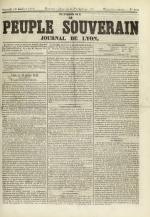 Le Peuple souverain : journal des intérêts démocratiques et du progrès social, N°106