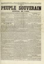 Le Peuple souverain : journal des intérêts démocratiques et du progrès social, N°107