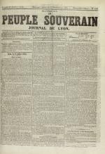 Le Peuple souverain : journal des intérêts démocratiques et du progrès social, N°108