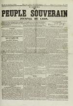 Le Peuple souverain : journal des intérêts démocratiques et du progrès social, N°109