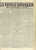 Le Peuple souverain : journal des intérêts démocratiques et du progrès social, N°244