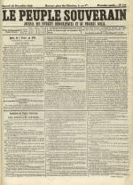 Le Peuple souverain : journal des intérêts démocratiques et du progrès social, N°246