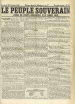 Le Peuple souverain : journal des intérêts démocratiques et du progrès social, N°245