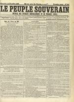 Le Peuple souverain : journal des intérêts démocratiques et du progrès social, N°247