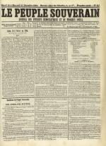 Le Peuple souverain : journal des intérêts démocratiques et du progrès social, N°249