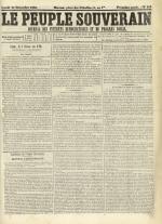 Le Peuple souverain : journal des intérêts démocratiques et du progrès social, N°248