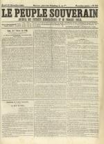 Le Peuple souverain : journal des intérêts démocratiques et du progrès social, N°250