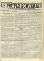 Le Peuple souverain : journal des intérêts démocratiques et du progrès social, N°251