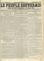 Le Peuple souverain : journal des intérêts démocratiques et du progrès social, N°252