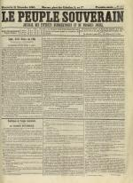 Le Peuple souverain : journal des intérêts démocratiques et du progrès social, N°253