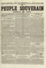 Le Peuple souverain : journal des intérêts démocratiques et du progrès social, N°91