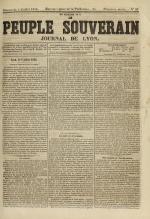 Le Peuple souverain : journal des intérêts démocratiques et du progrès social, N°93