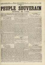 Le Peuple souverain : journal des intérêts démocratiques et du progrès social, N°94