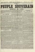 Le Peuple souverain : journal des intérêts démocratiques et du progrès social, N°90