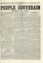 Le Peuple souverain : journal des intérêts démocratiques et du progrès social, N°92