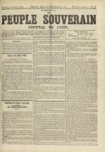 Le Peuple souverain : journal des intérêts démocratiques et du progrès social, N°95