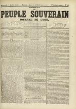 Le Peuple souverain : journal des intérêts démocratiques et du progrès social, N°96