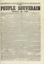 Le Peuple souverain : journal des intérêts démocratiques et du progrès social, N°97